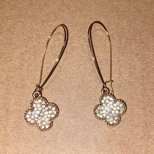 Francescas Gold Clover Earrings
